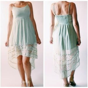 Band of Gypsies large sea green dress high- low